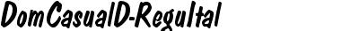 DomCasualD Italic