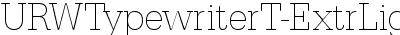 URWTypewriterT-ExtrLighNa...