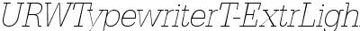URWTypewriterT-ExtrLighEx...