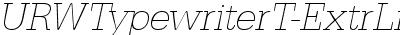 URWTypewriterT-ExtrLighOb...