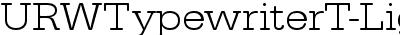 URWTypewriterT-LighExtrWi...