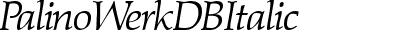 PalinoWerkDB Italic