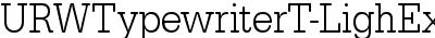 URWTypewriterT-LighExtrNa...