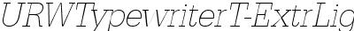 URWTypewriterTExtLigNar Oblique