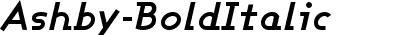 Ashby Bold Italic