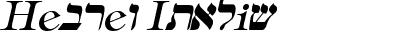 Hebrew Italic
