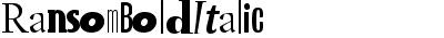 Ransom Bold Italic