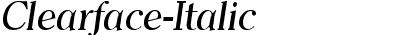 Clearface-Italic