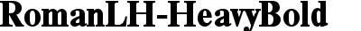 RomanLH-HeavyBold