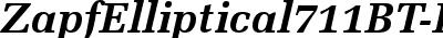 ZapfEllipt BT Bold Italic