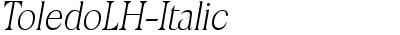 ToledoLH-Italic