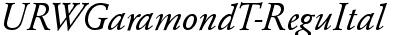 URWGaramondT Italic