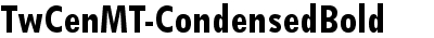 Tw Cen MT Condensed Bold