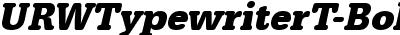 URWTypewriterT-BoldNarrOb...