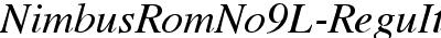 NimbusRomNo9L Italic