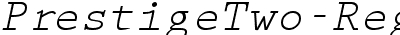 PrestigeTwo-RegularItalic