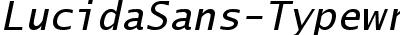 Lucida Sans Typewriter Oblique