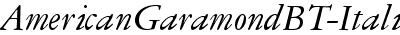 AmericanGaramondBT-Italic