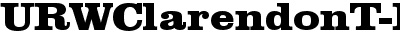 URWClarendonT-ExtrBoldExt...