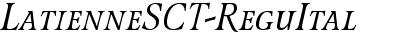 LatienneSCTReg Italic