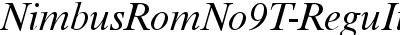 NimbusRomNo9T Italic