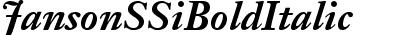 Janson SSi Bold Italic