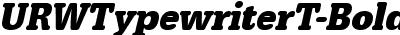 URWTypewriterT-BoldExtrNa...