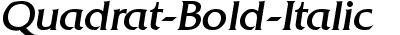 Quadrat-Bold-Italic
