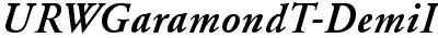 URWGaramondT-DemiItal