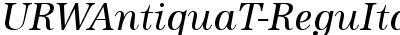 URWAntiquaT-ReguItal