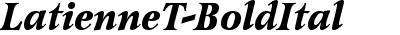 LatienneT Bold Italic