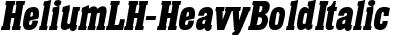HeliumLH Bold Italic