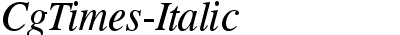 CgTimes-Italic
