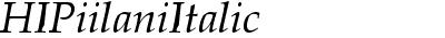 HIPiilaniItalic
