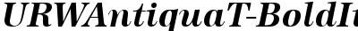 URWAntiquaT Bold Italic