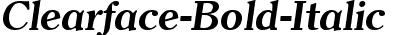 Clearface-Bold-Italic