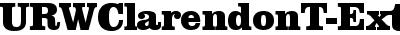 URWClarendonT-ExtrBoldNar...