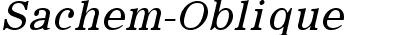 Sachem-Oblique