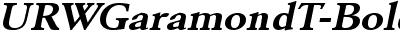 URWGaramondTExtWid Bold Oblique
