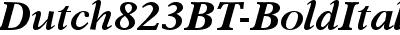 Dutch823BT-BoldItalicB