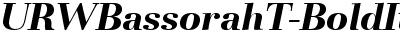 URWBassorahT Bold Italic