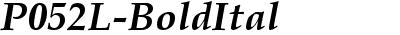 P052L Bold Italic