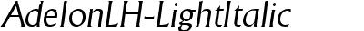 AdelonLH-LightItalic