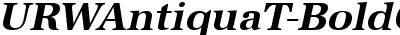 URWAntiquaT Bold Oblique