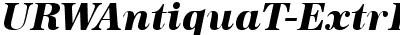 URWAntiquaTExtBol Italic