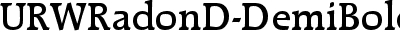 URWRadonD-DemiBold