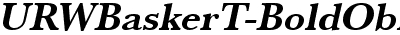 URWBaskerT Bold Oblique