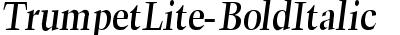 TrumpetLite-BoldItalic