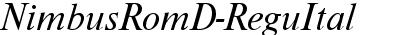 NimbusRomD Italic