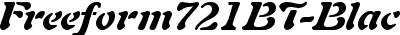 Freeform721BT-BlackItalic